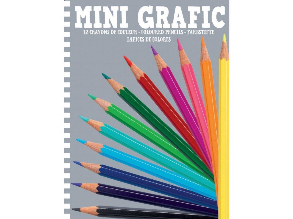 Djeco | Mini grafic - 12 pastelek