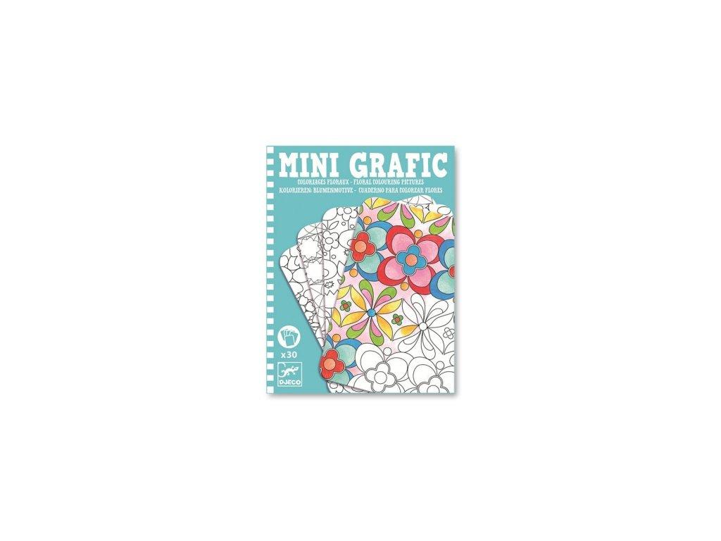 Djeco | Mini grafic - Květinové omalovánky