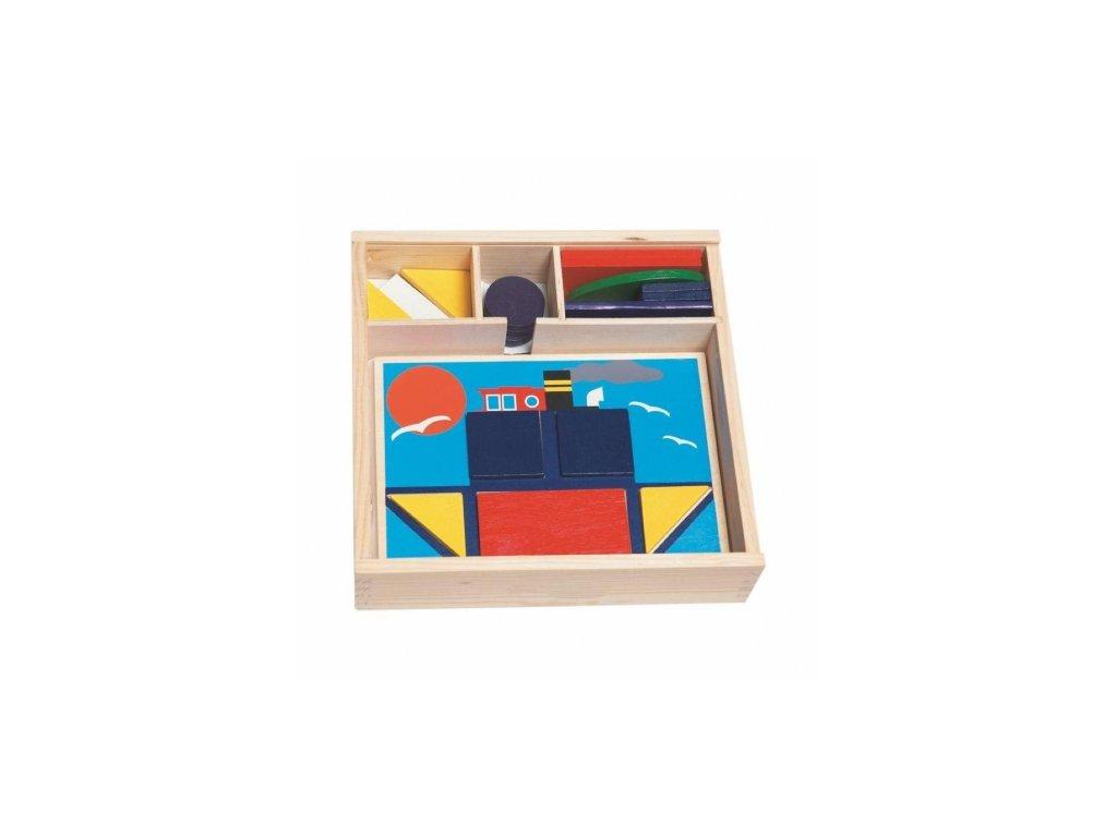 Woody | Didaktická vkládačka 10 obrázků v dř.krabičce
