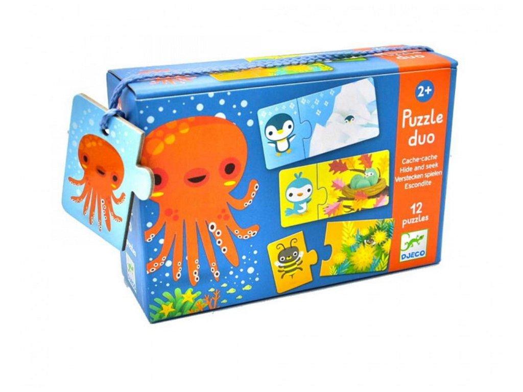 DJ08156 djeco puzzle duo najdi mě