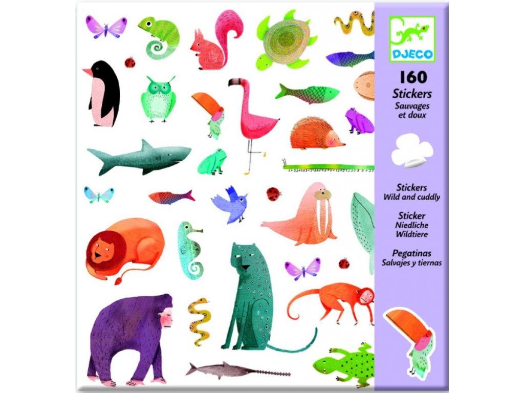 DJ08883 djeco samolepky divoká zvířata