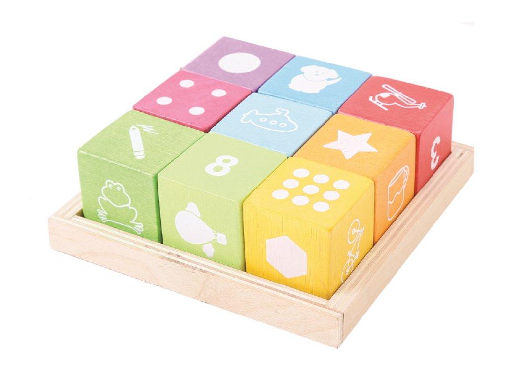 Bigjigs Toys | Dřevěné kostky s obrázky