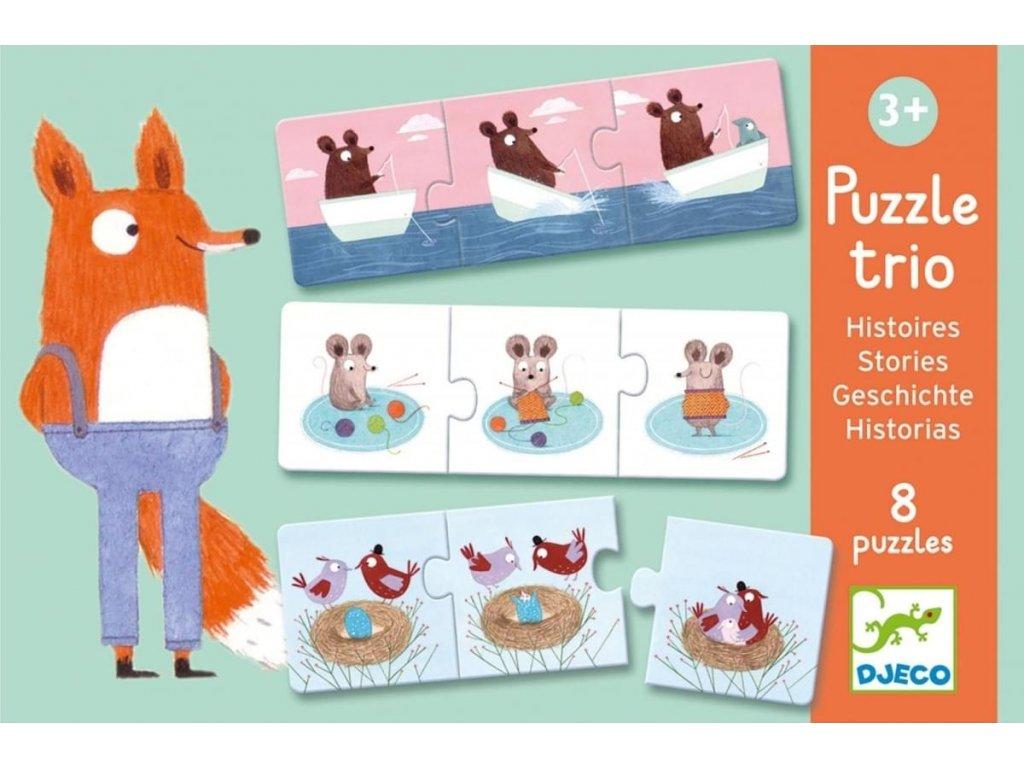 Djeco | Puzzle trio Příběhy 24 dílků