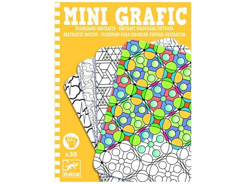 Djeco | Mini grafic - Abstract omalovánky