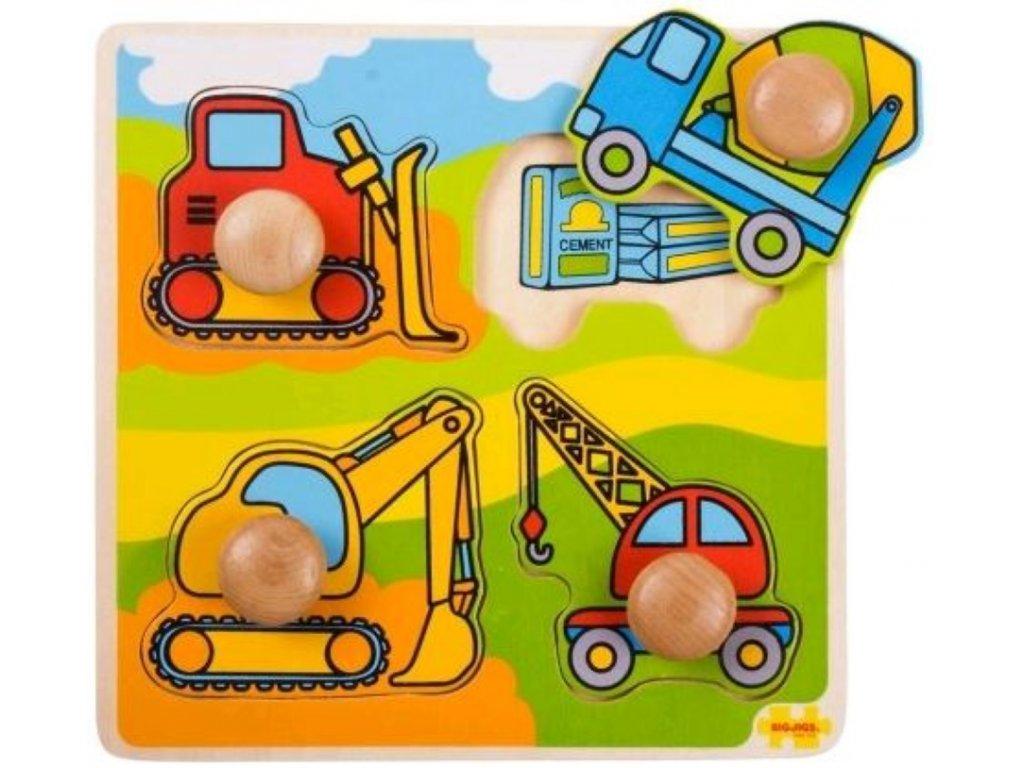 Bigjigs Toys | Vkládací puzzle Stavební stroje