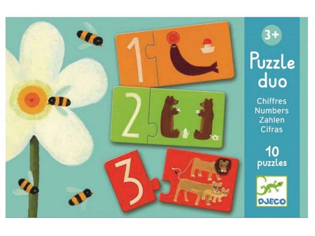 DJ08151 djeco puzzle duo čísla