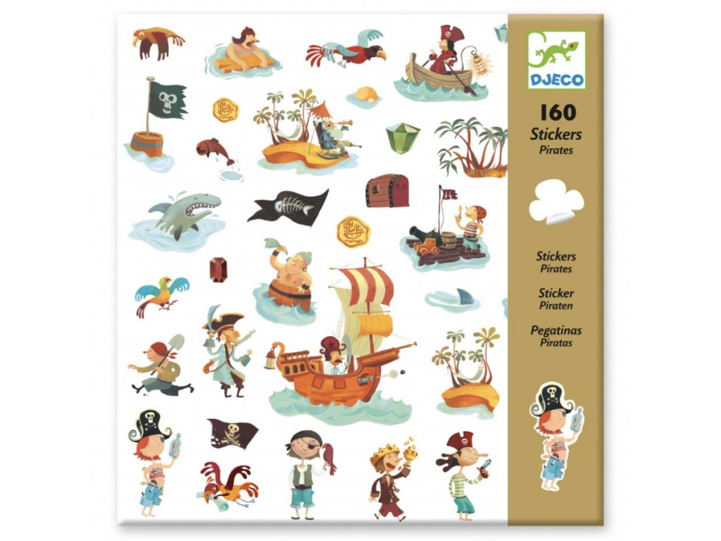 Djeco | Samolepky Piráti