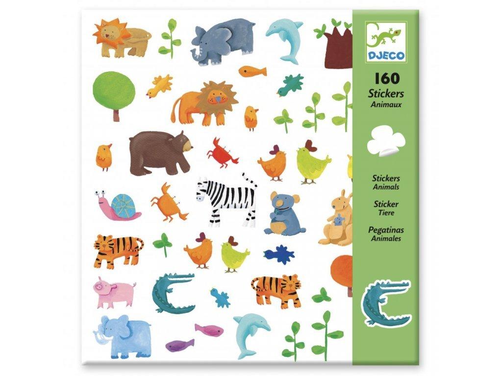 DJ08841 djeco samolepky zoo