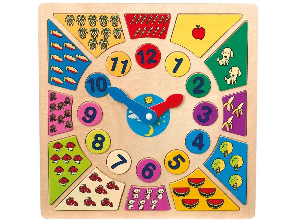 Legler | Vkládací výukové puzzle Nauč se hodiny