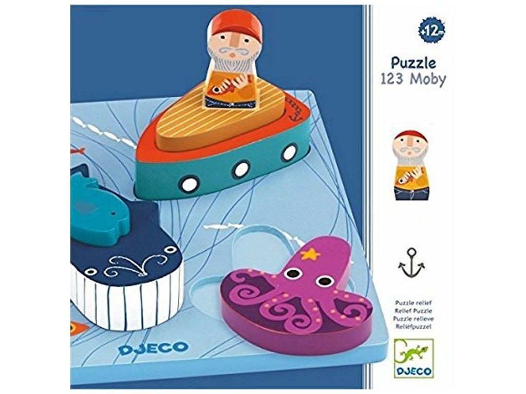 Djeco | Vkládací puzzle Moby