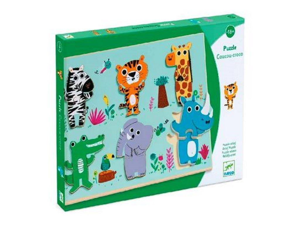 Djeco | Vkládací puzzle Zvířátka ze ZOO