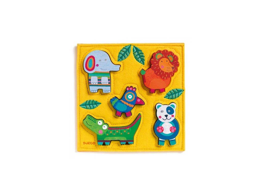 Djeco | Dřevěné vkládací puzzle Junga