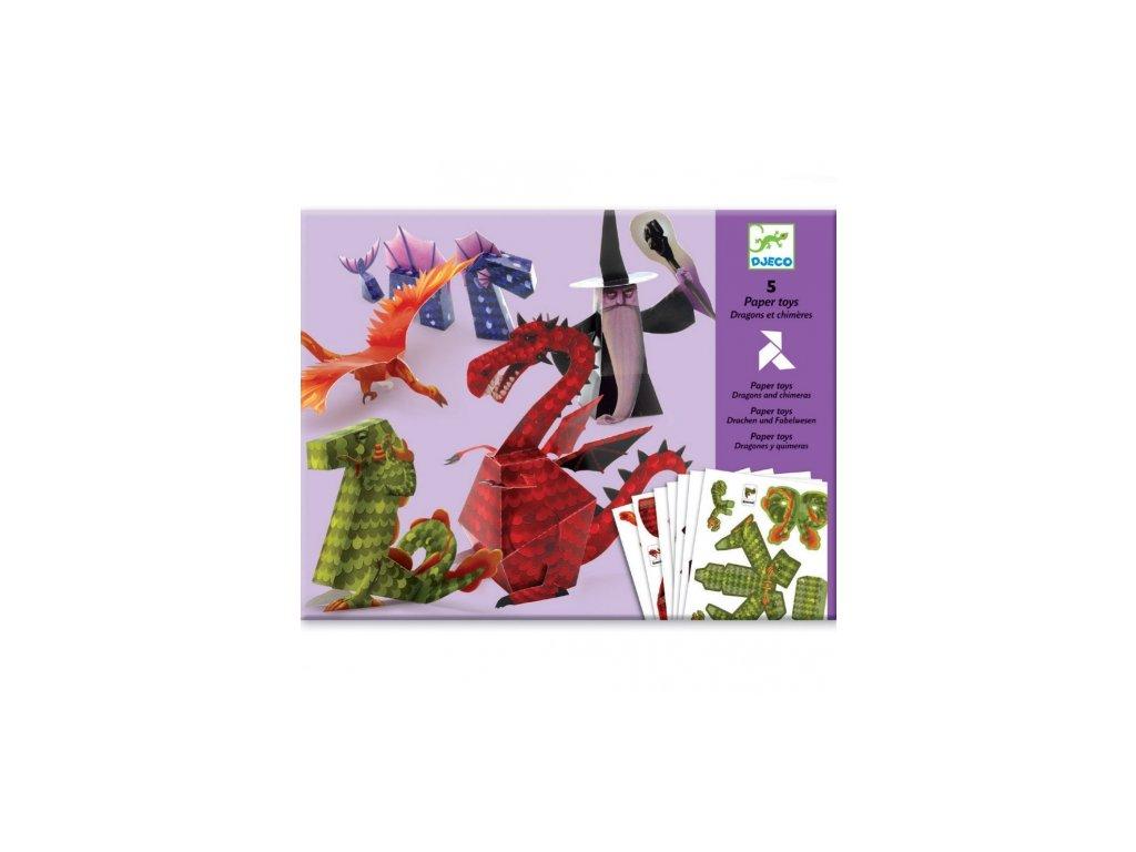 Djeco | Origami skládačka Draci