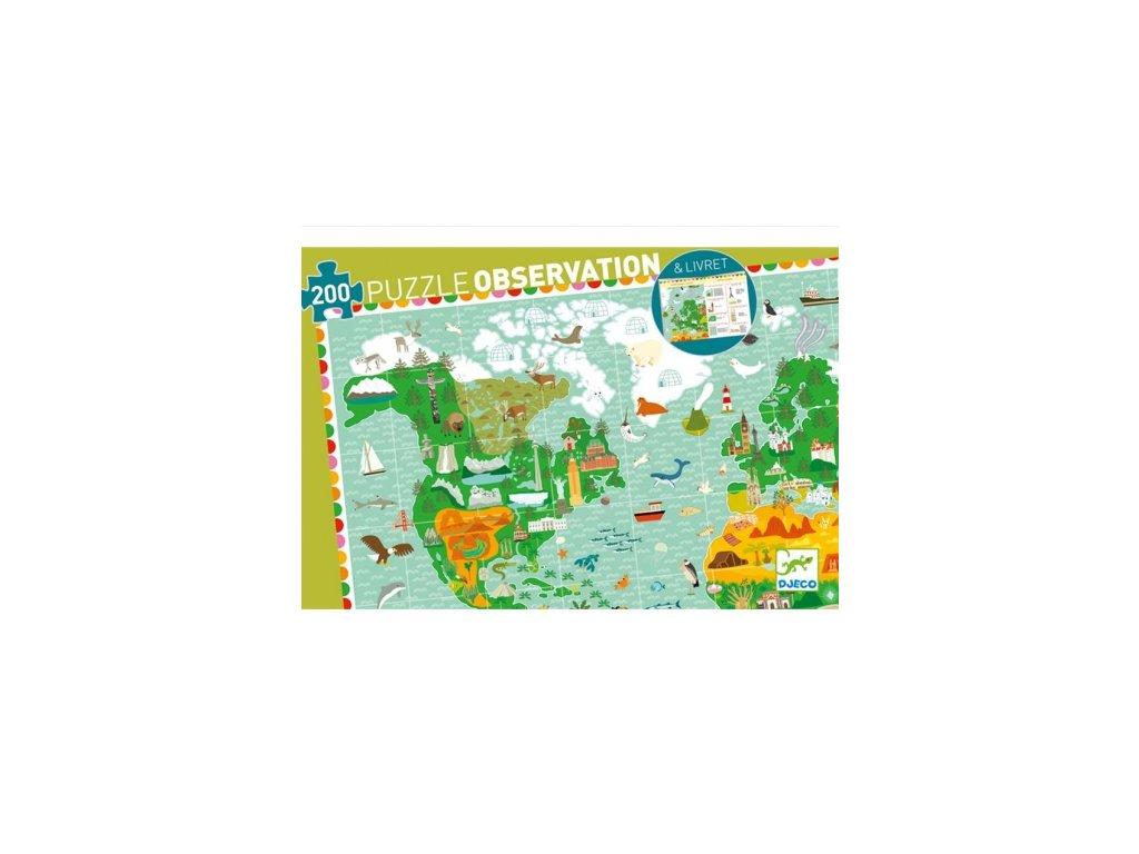 Djeco | Puzzle Kolem světa 200 dílků