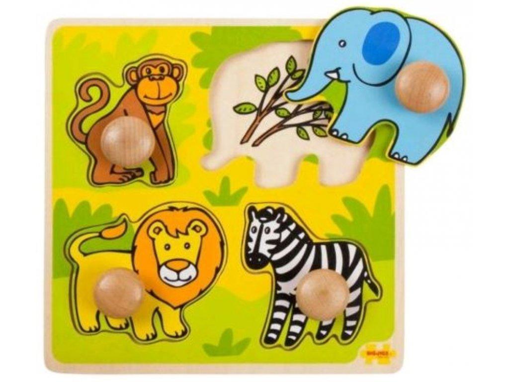 Bigjigs Toys | Vkládací puzzle Safari