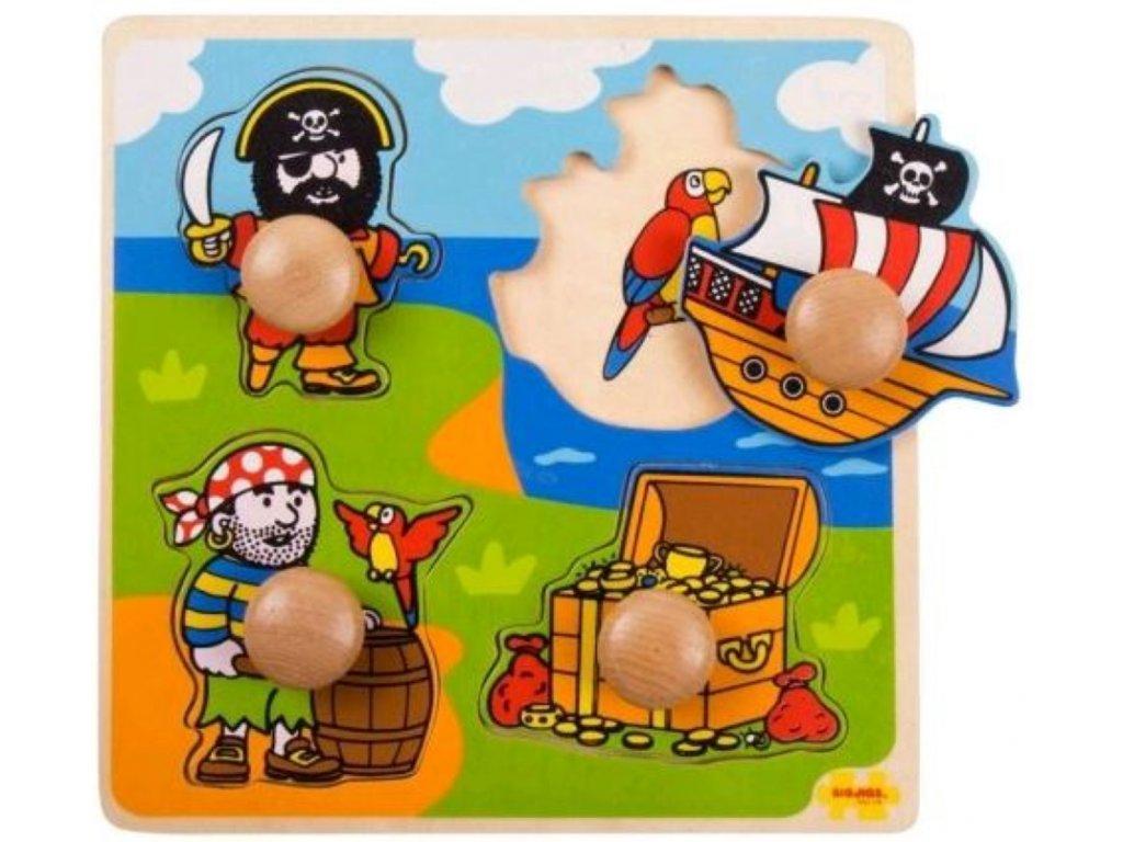 Bigjigs Toys | Vkládací puzzle Piráti