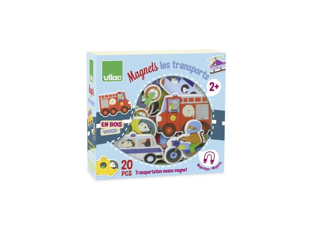 Vilac | Dřevěné magnetky Doprava 20 ks