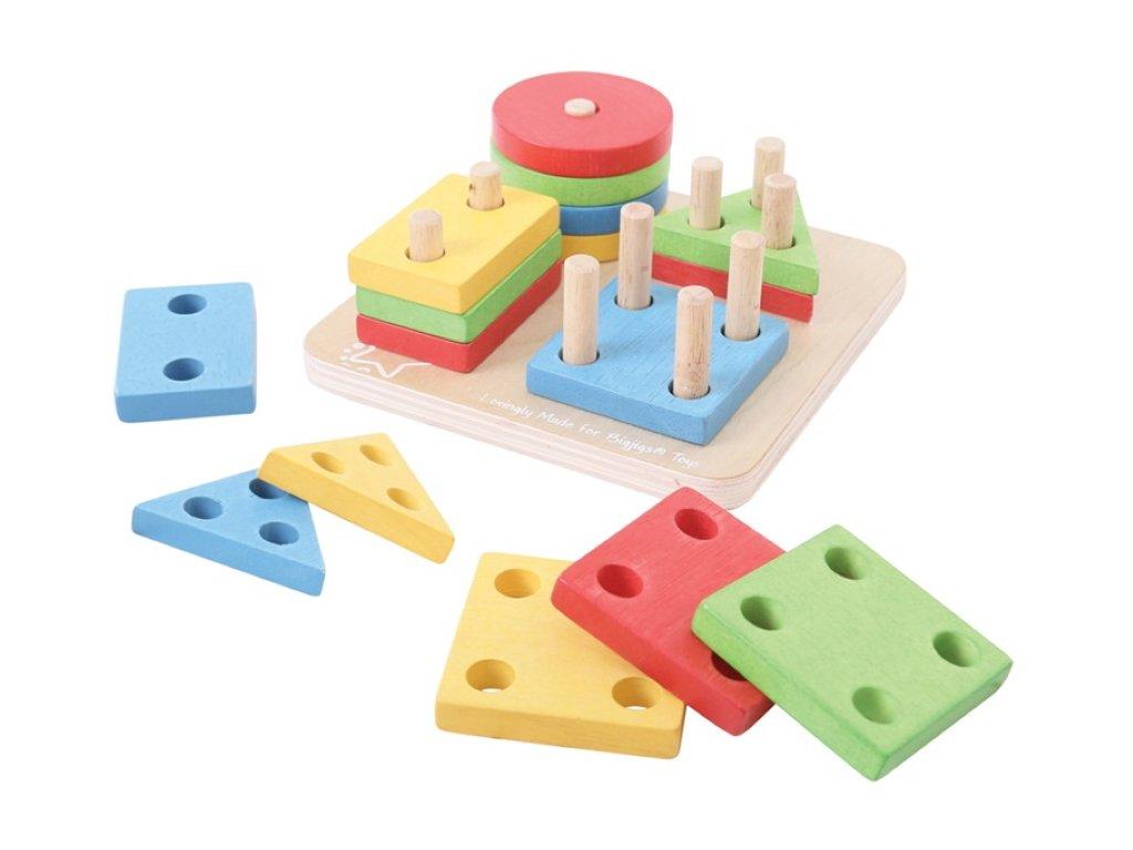 Bigjigs Toys | Nasazování tvarů na tyče