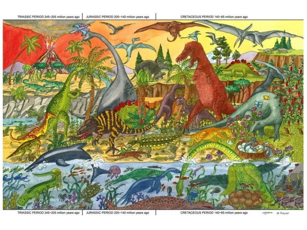 Bigjigs Toys | Puzzle Dinosauři 96 dílků
