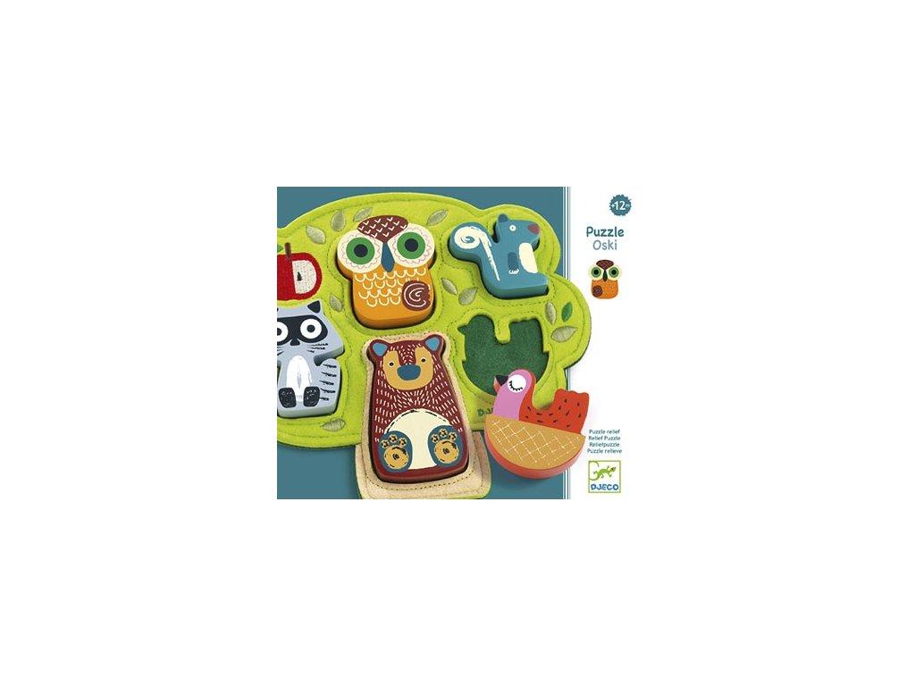 Djeco | Vkládací puzzle Oski
