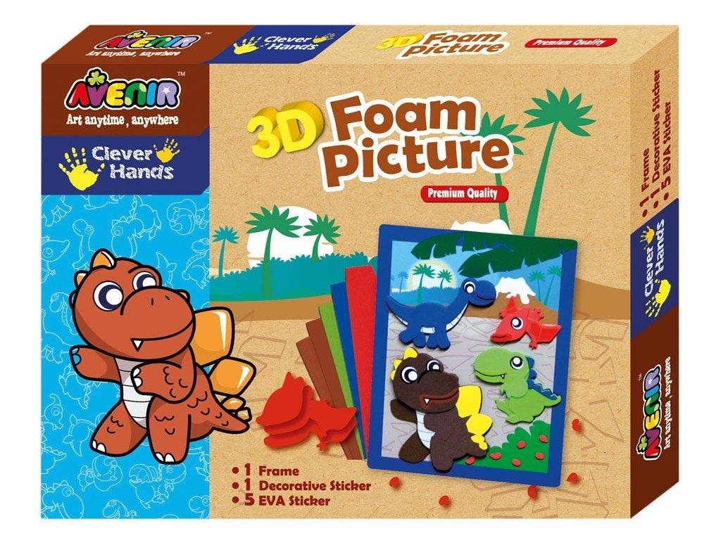 Avenir   Pěnové 3D obrázky - Dinosaurus
