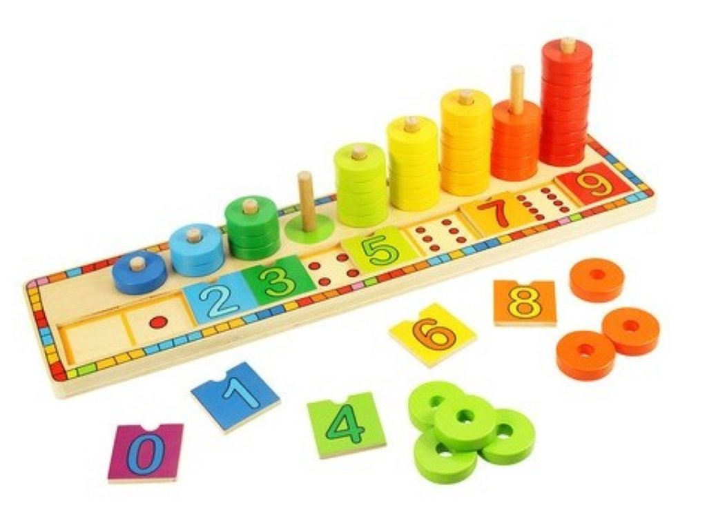 learn to count wooden puzzle