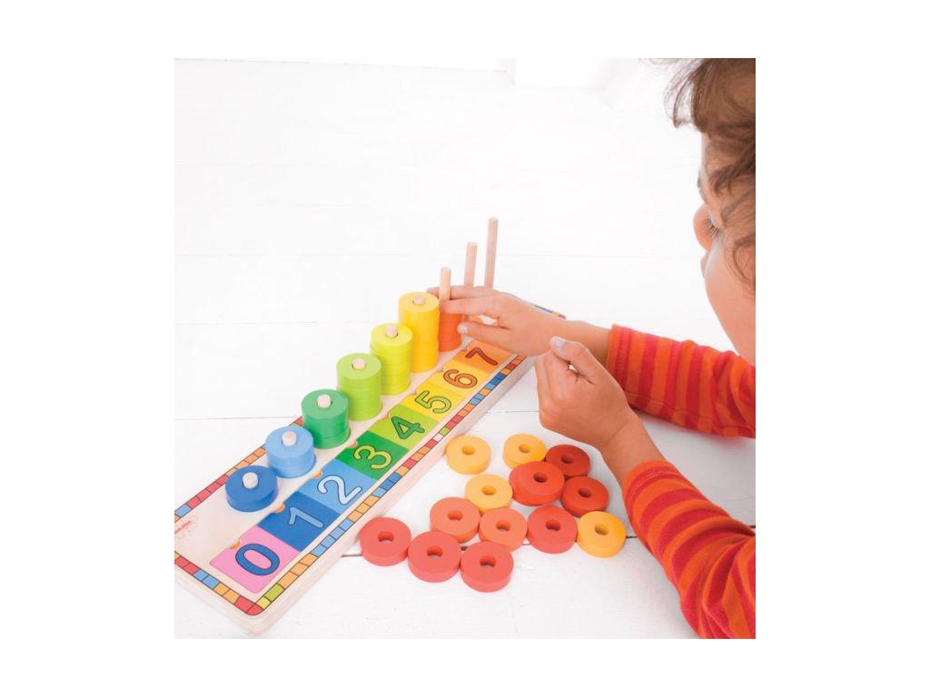 Bigjigs Toys | Deska nasazování s čísly