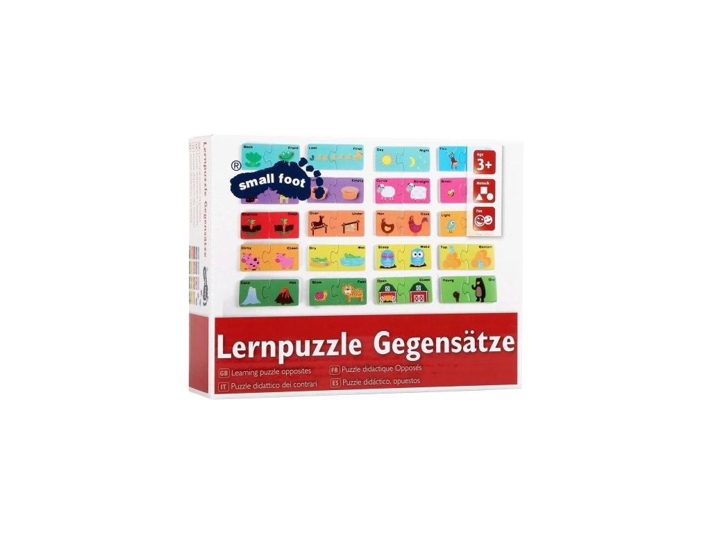 Legler | Dřevěné puzzle Protiklady