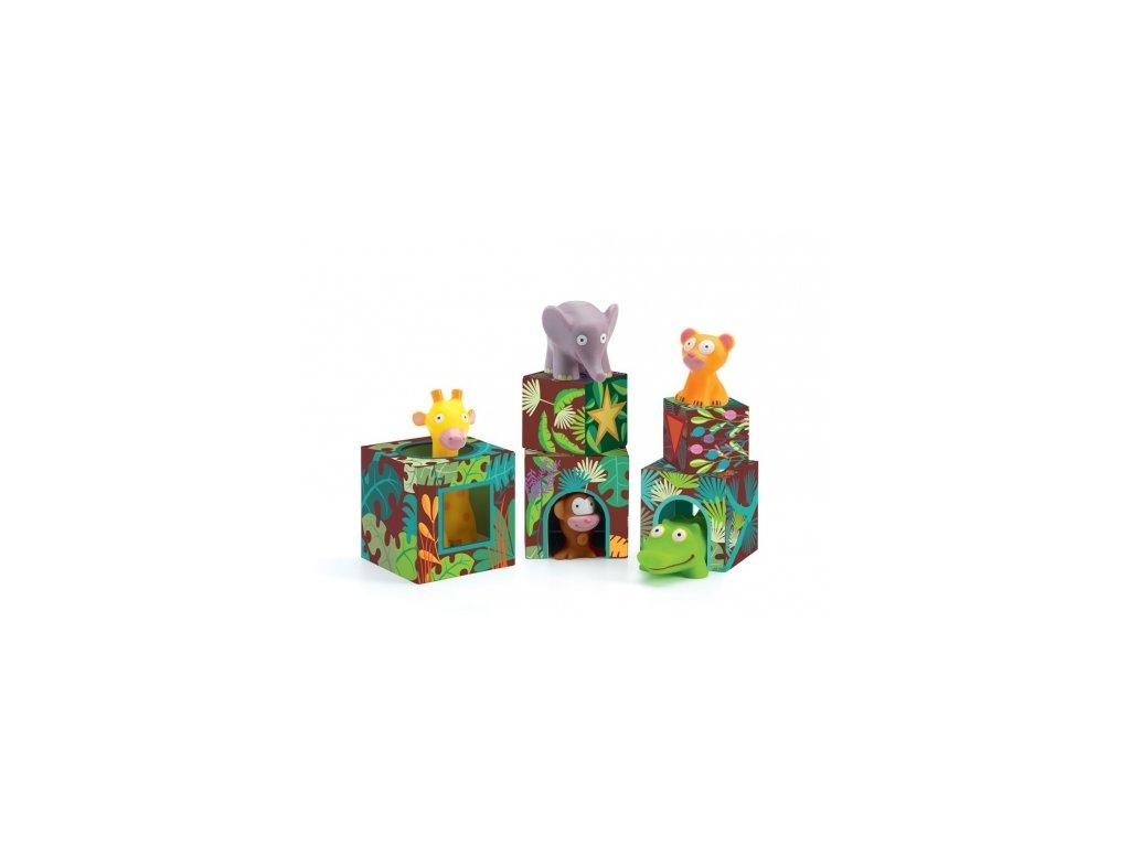 Djeco | Kostky Zvířátka v džungli