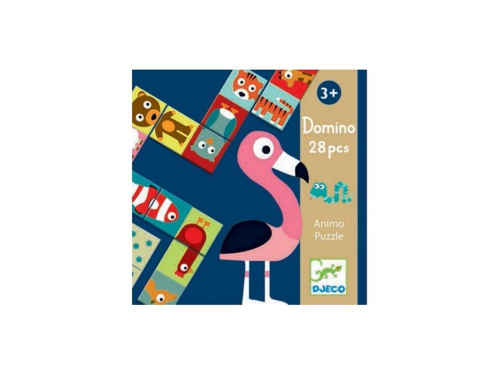 Djeco | Oboustranné domino Zvířátka