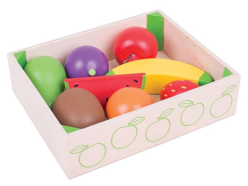 Bigjigs Toys | Dřevěné potraviny Ovoce v krabičce