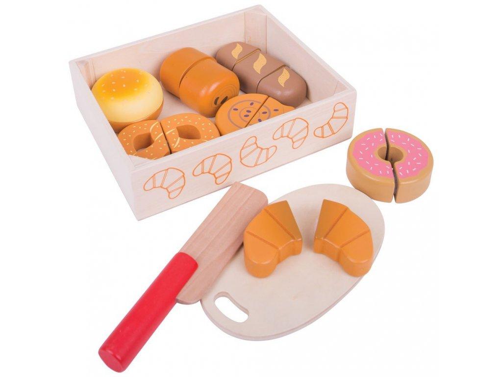 Bigjigs Toys | Dřevěné potraviny Krájení pečiva v krabičce