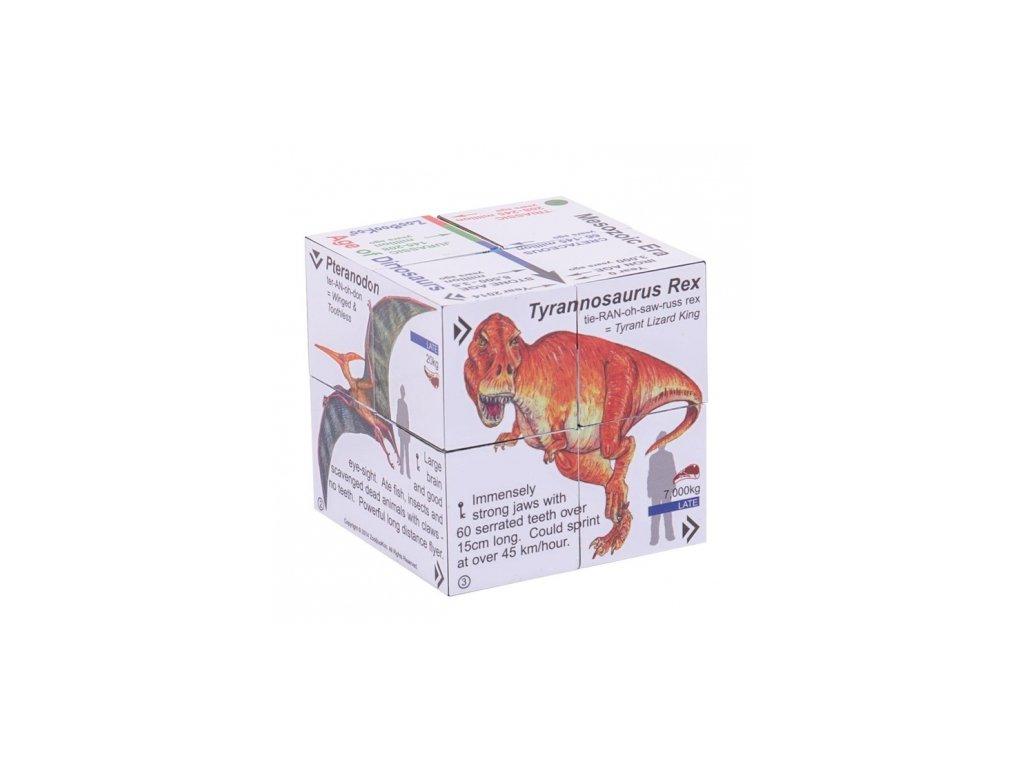 Bigjigs Toys | Zoobookoo Didaktická kostka Dinosauři