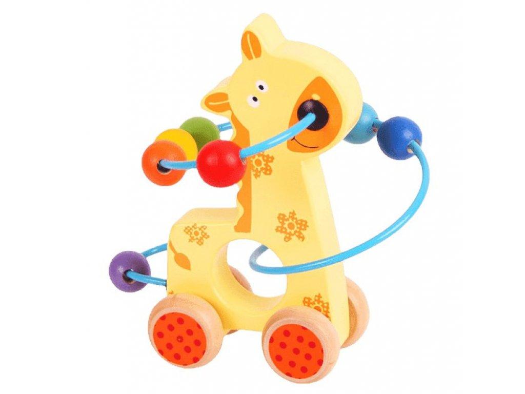 Bigjigs Toys | Motorický labyrint na kolečkách Žirafa