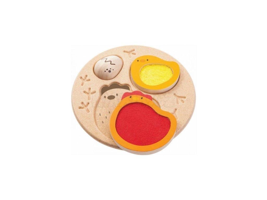 Plan Toys | Puzzle - Životní cyklus kuřete