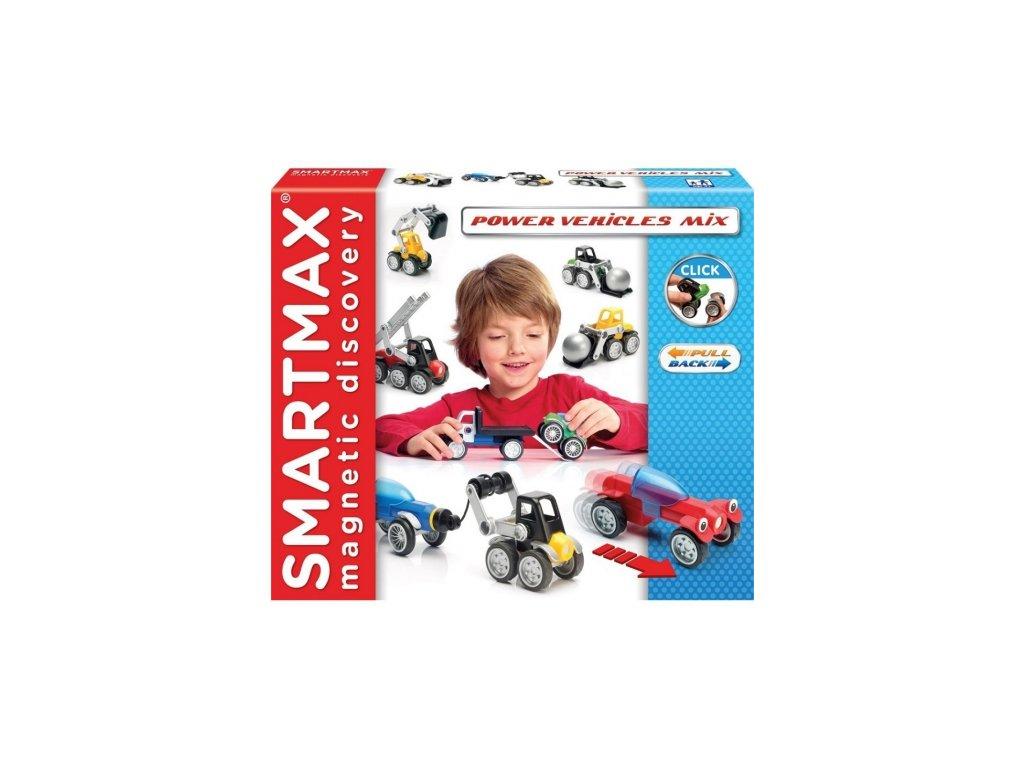 SmartMax | Magnetická stavebnice Mix vozidel (25 dílů)