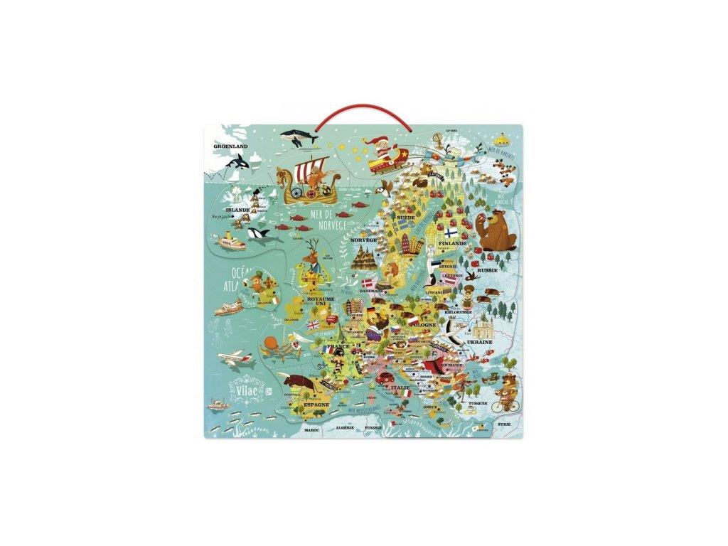 Vilac | Nástěnná magnetická mapa Evropy