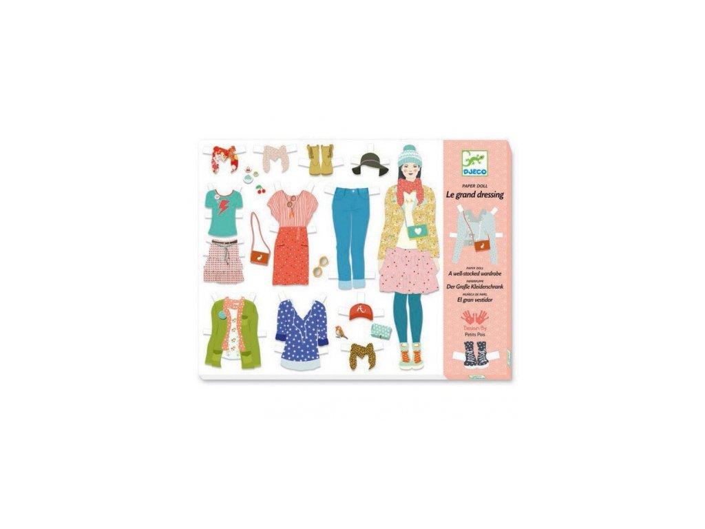 Djeco | Papírové oblékání Velká šatna
