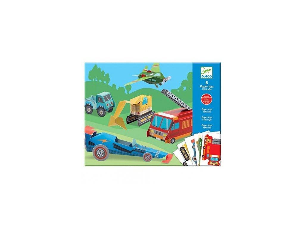 Djeco | Origami skládačka Dopravní prostředky