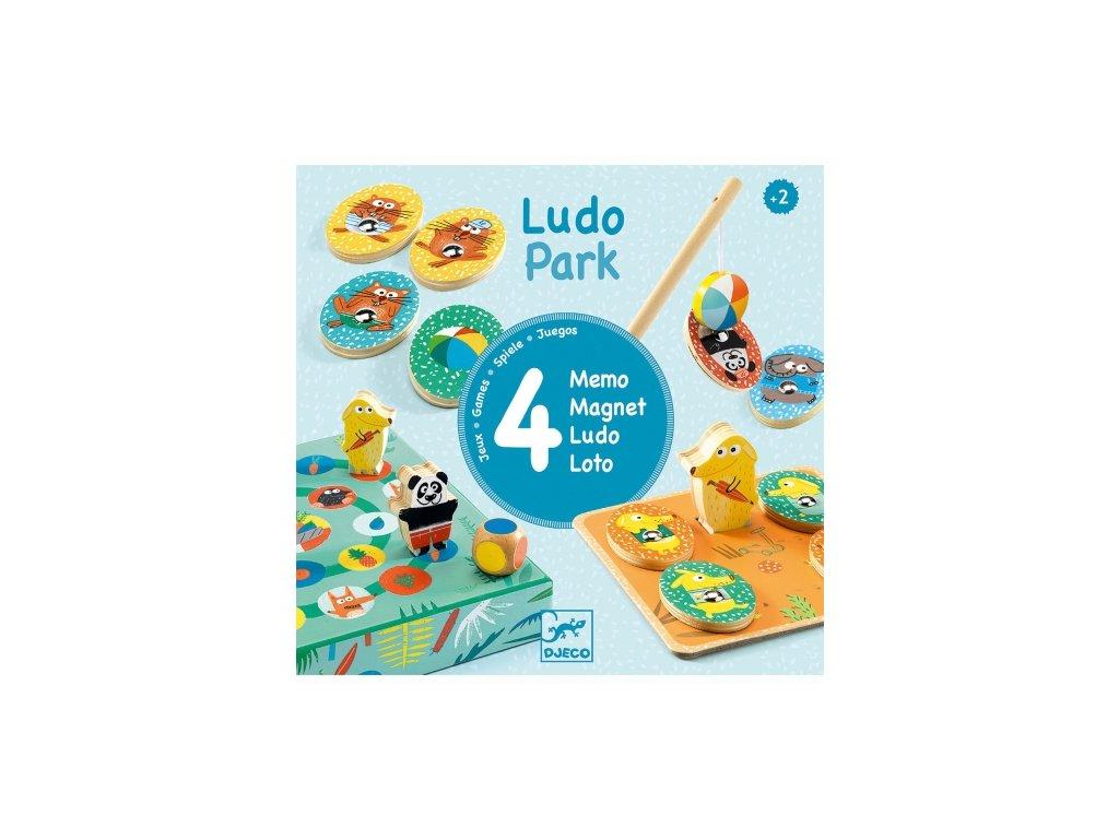 Djeco | Ludo park set her 4 v 1
