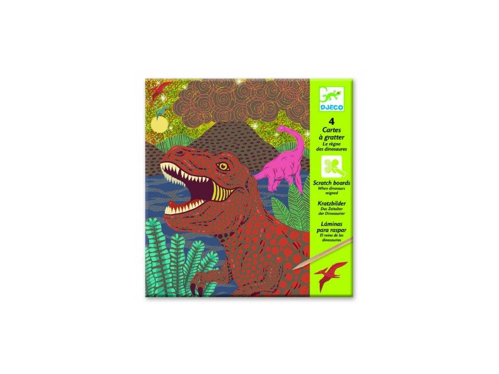 Djeco | Vyškrabávací obrázky Dinosauři