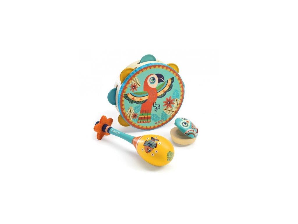 Djeco | Animambo set 3 dřevěných hudebních nástrojů