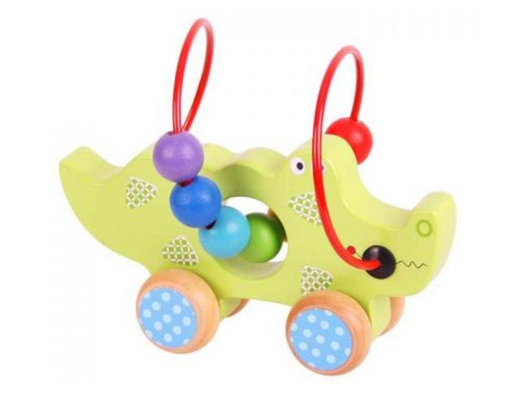 Bigjigs Toys | Motorický labyrint na kolečkách Krokodýl