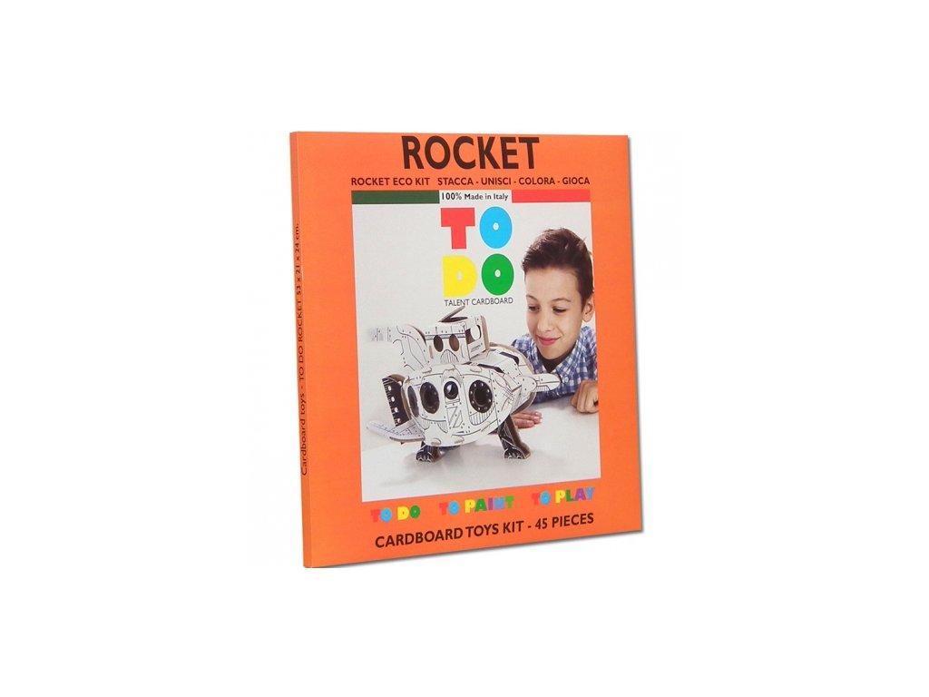 TO DO | Kartonová 3D skládačka Raketa