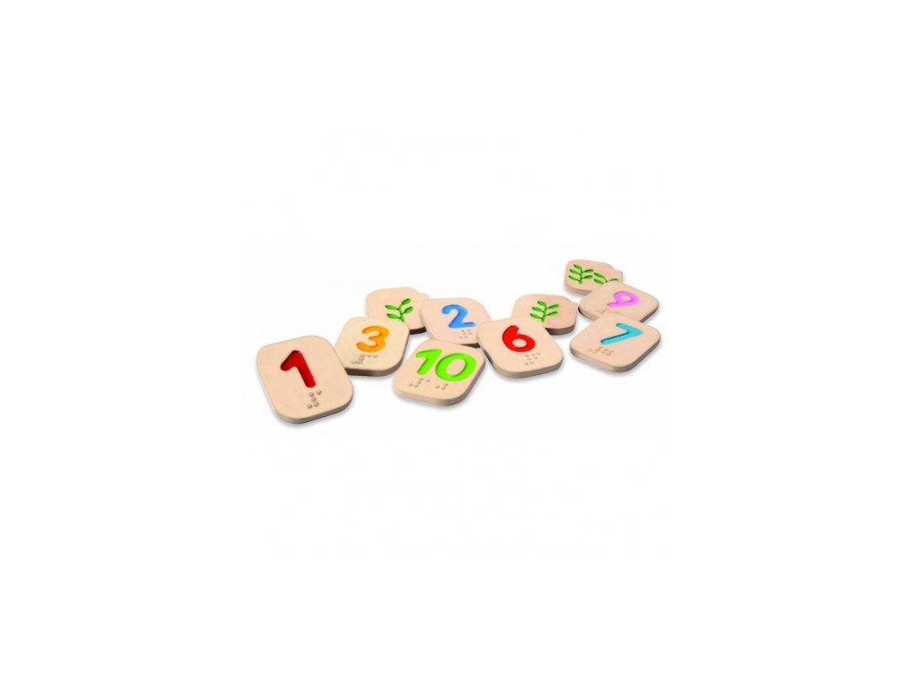 Plan Toys | Braillova čísla 1-10