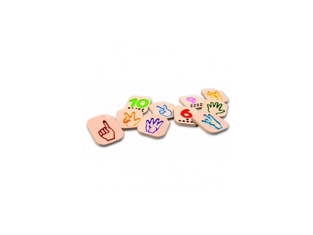 Plan Toys | Prstová abeceda - číslice 1-10