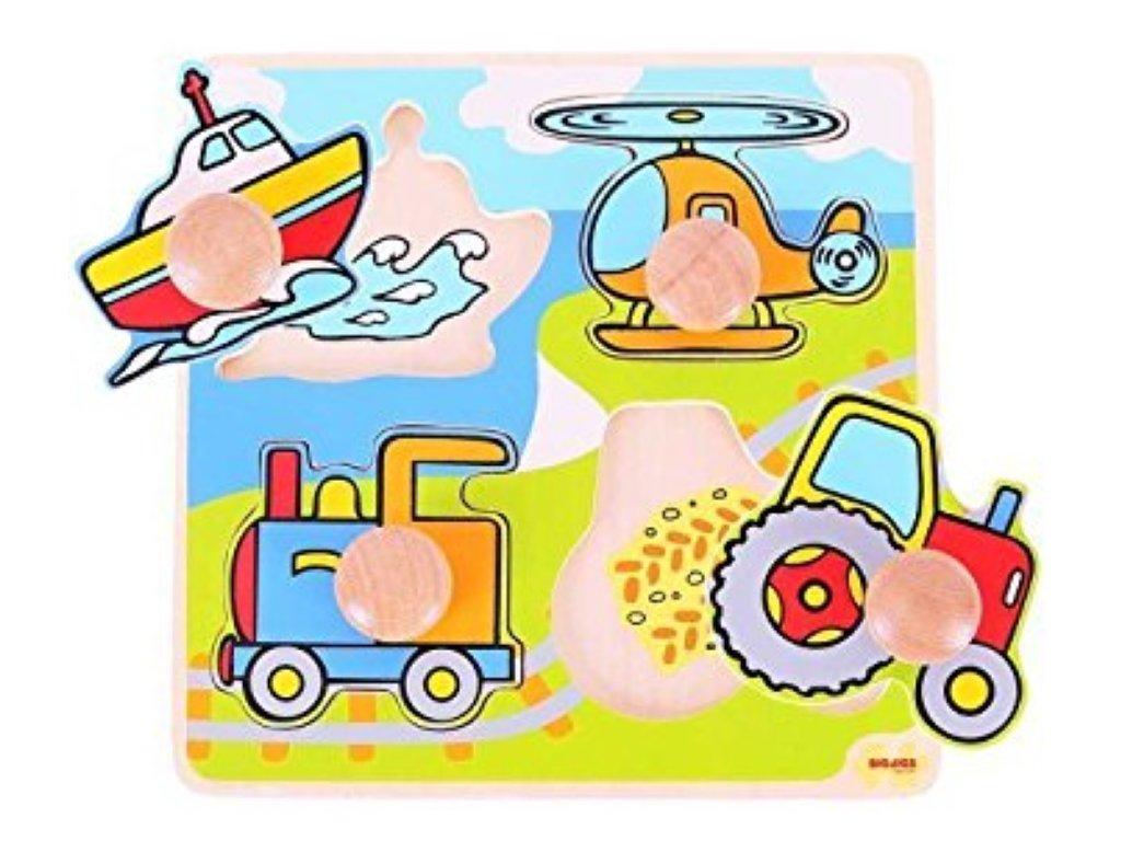 Bigjigs Toys | Vkládací puzzle Doprava