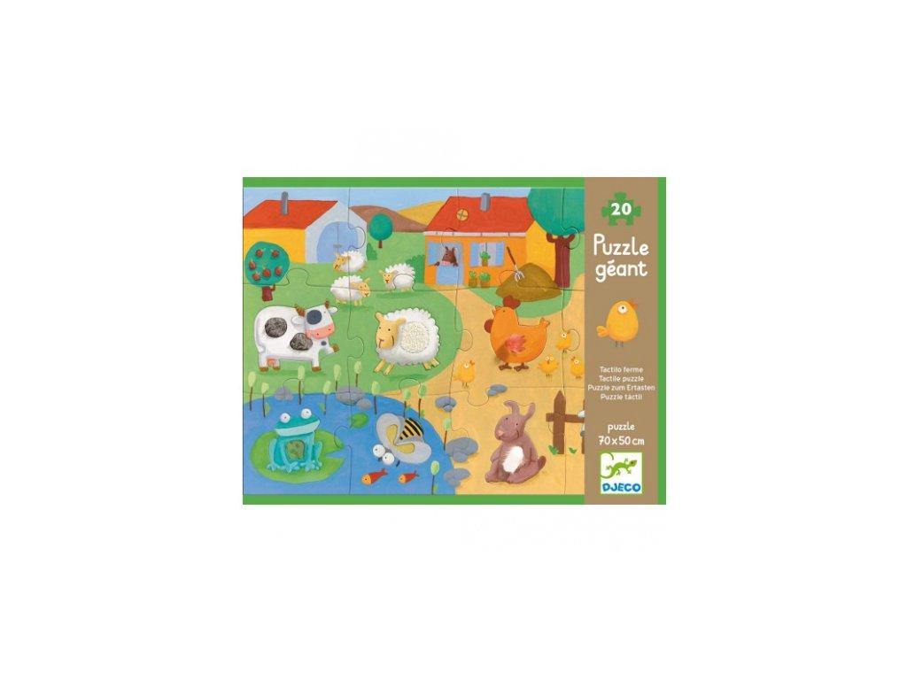 Djeco | Puzzle hmatové Farma