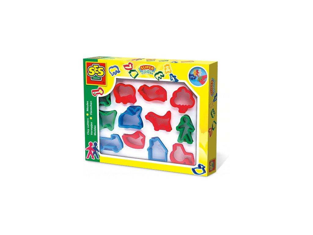 SES | Plastová barevná vykrajovátka (12 ks)