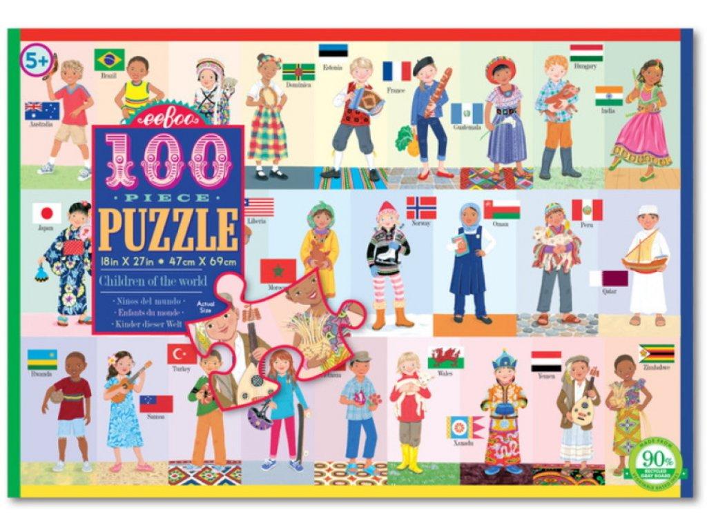 eeBoo | Puzzle Děti z celého světa (100 dílků)